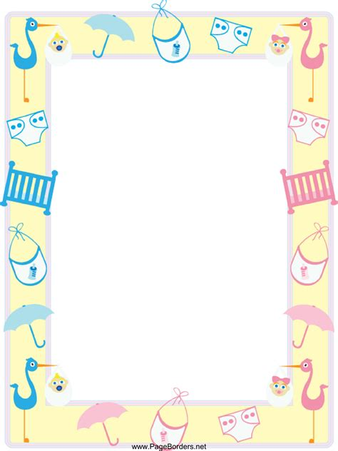 Baby Shower Boarder by Baby Boy Shower Borders Clipart Best
