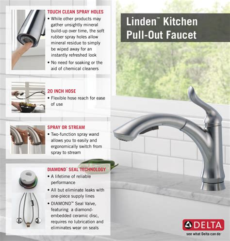 delta faucet kitchen delta linden single handle pull out sprayer kitchen faucet