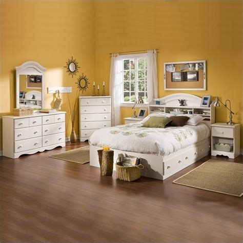 kids full bedroom set south shore summer breeze full size kids 6 piece bedroom