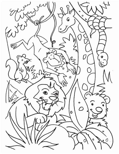 Printable Jungle Animal Coloring Pages in 2020 (With