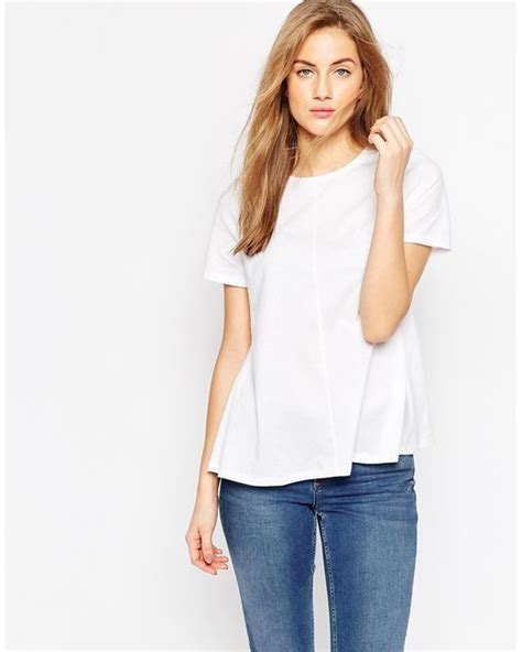 swing tee shirts asos swing t shirt in white lyst