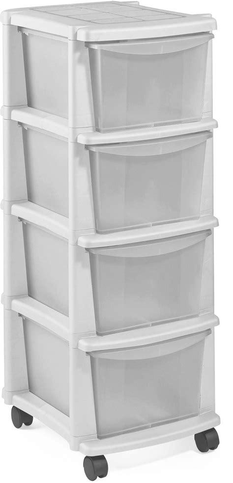 Argos Home 4 Drawer White Plastic Tower Storage Unit