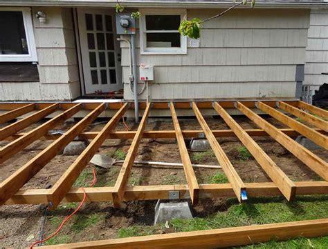 wood deck framing plans home design ideas