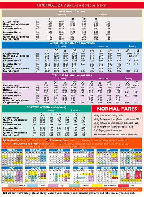 timetables and fares great central railway the uk s