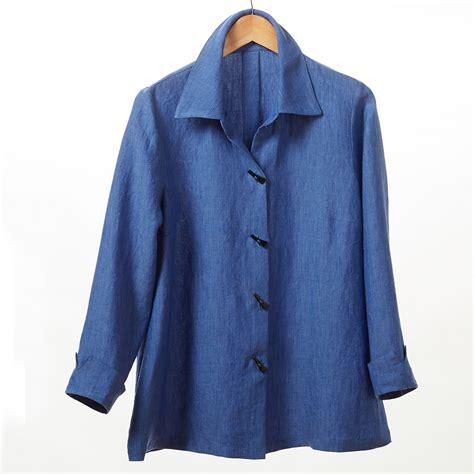 Baju Blouse Blus Linen Nov 7 carol linen blouse cornflower blue gump s