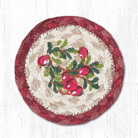 braided rug coasters cranberries braided coaster by capitol earth rugs the patch