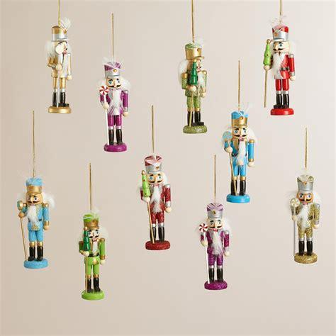 boxed ornaments sets boxed wooden nutcracker ornaments set of 2 world market