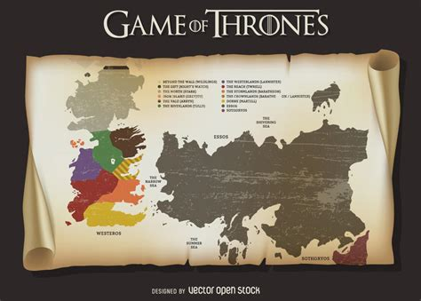 map layout for game of thrones game of thrones map vector download