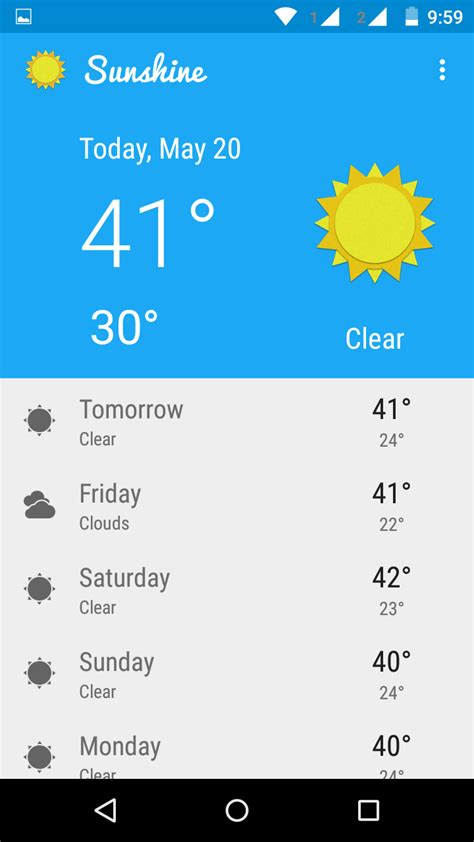 android weather weather app android