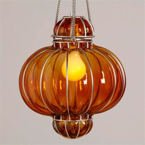 orange glass venetian pendant traditional pendant