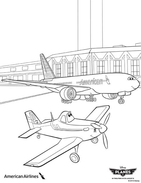 737 Coloring Page by Disney Pixar Planes Dusty And Boeing 737 Jumbo Jet