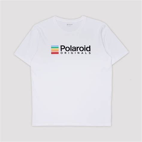 T Shirt White Color white polaroid originals color logo t shirt