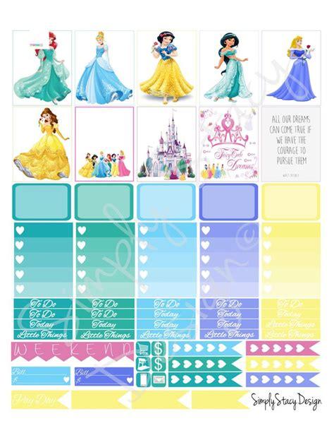printable planner stickers disney princess theme for erin orange and navy birthday party invitation digital file