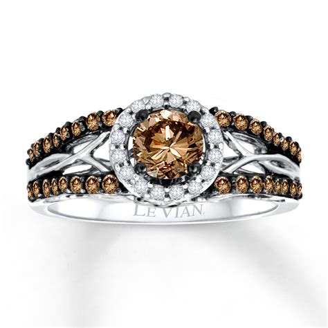levian chocolate diamonds 3 4 ct tw engagement ring