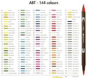 tombow color chart tombow markers craft wholesalers australia shop