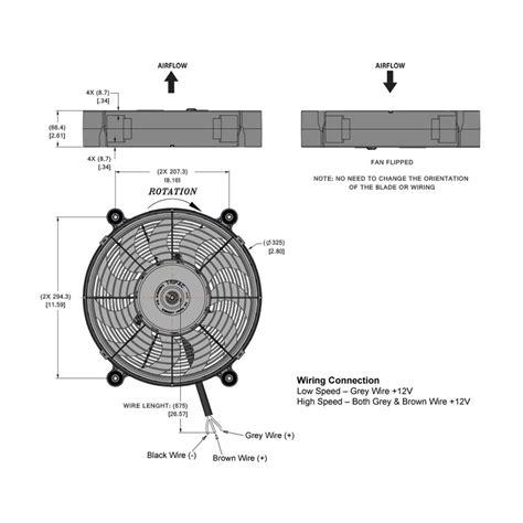 high flow radiator fan hi flow electric radiator fan 12 inch diameter from merlin