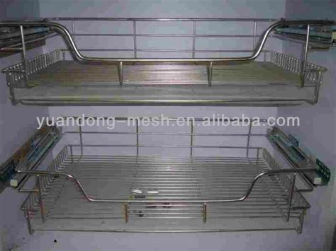 stainless steel kitchen cabinet drawer wire mesh basket