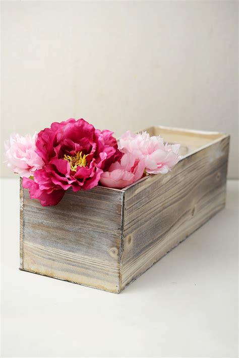 washed wood box l white washed wood 18x6 planter box