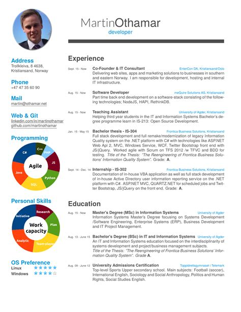 Cv Latex Template A Resume Modern Cv Latex Templates CV