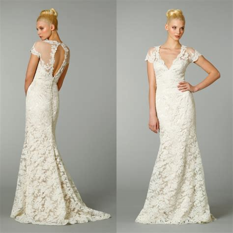 wedding dresses open back lace v neckline vintage lace wedding dress with open back