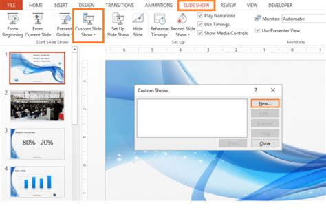 How To Make A Custom Slide Show In Powerpoint 2016 Free Custom Powerpoint Slides