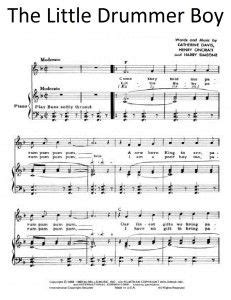 printable lyrics for the little drummer boy sheet music little drummer boy google search felt