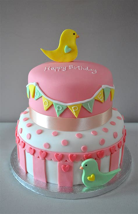 Bird Themed Baby Shower Cake by 1st Birthday Cake Bird Themed Kildare Treats