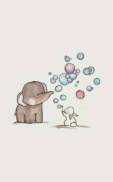girly elephant wallpaper cute elephant and bunny image 3463341 by kristy d on