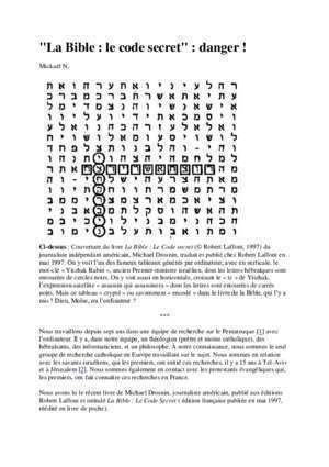 Les 3000 codes secrets des psaumes - Document PDF