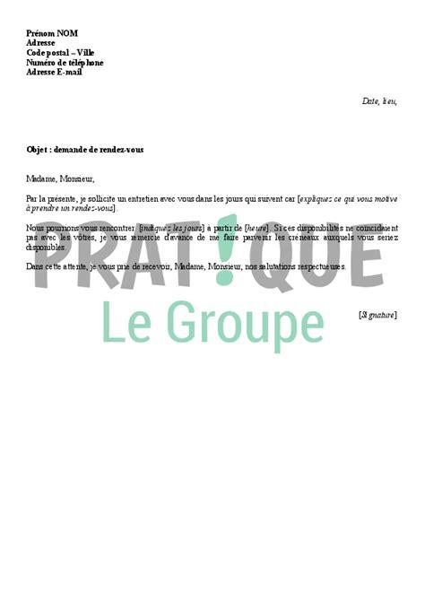 lettre de demande de rendez vous pratique fr