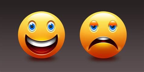imagenes de happy and sad happy and sad emoticons psd graphicsfuel