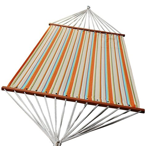 algoma 13 ft olefin swing hammock in orange stripe 2879dp