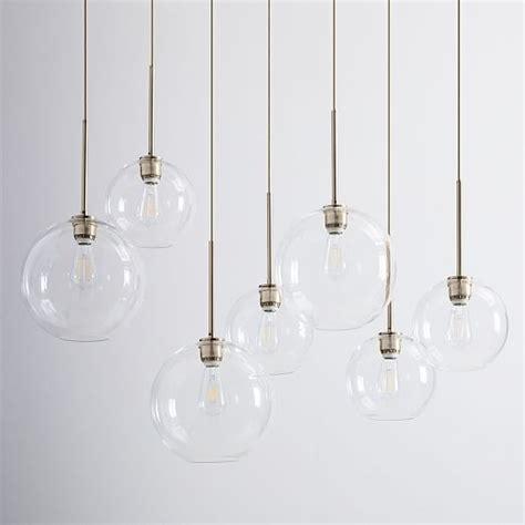 glass globe chandelier sculptural glass globe 7 light chandelier mixed west elm