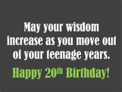 Happy 20th Birthday Wishes Quotes Happy 20th Birthday Quotes Quotesgram