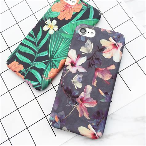 Hardcase Flower Cherries For Redmi3pro lovecom tropical banana leaf flowers cherry plants design phone for iphone 5 5s 6 6s 7 7