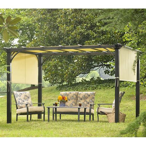 Garden Oasis Pergola Deluxe Shaded Canopy Outdoor Living Gazebos Canopies Pergolas
