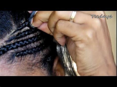 youtube braid pattern side mohawk part 1 cornrow pattern prep youtube
