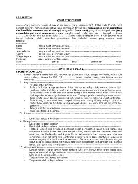 Contoh Surat Visum Kdrt Bertemuco