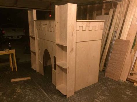diy castle bed a father made his daughter a diy princess castle bed frame