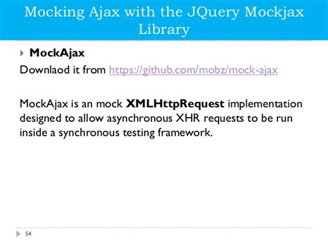 jquery tutorial quiz jquery mockjax phpsourcecode net