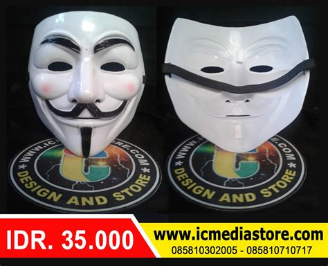 Kaos V For Vendetta topeng anonymous ic media