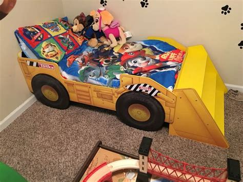 tonka toddler bed tonka bed for a paw patrol room my sons paw patrol