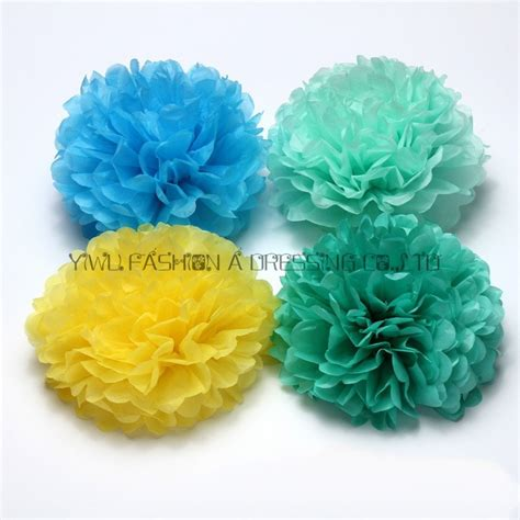 How To Make Large Tissue Paper Flower Balls - aliexpress buy 29 colors hanging tissue paper