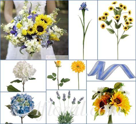 corn flower blue flower inspiration sunflower wedding bouquets with blue memes