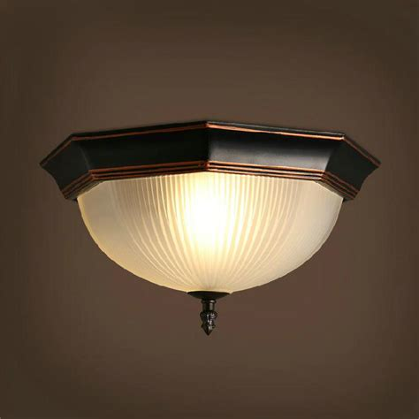 Mobile Home Light Fixtures American Style Vintage Glass Ceiling L Living Room Bedroom Light Home Decoration Lighting