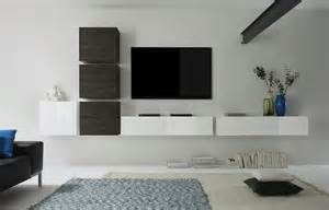 meubles tv suspendus blanc brillant et weng crez votre