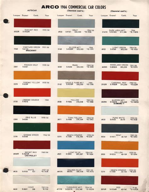 paint colors for chevy ideas 1974 chevy chevrolet truck paint chip color chart orig 1953
