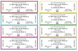 Print Your Own Tickets Template by Event Ticket Template Peerpex