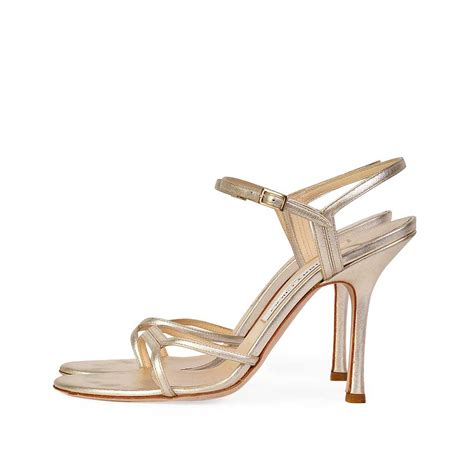 jimmy choo gold sandals jimmy choo gold nappa strappy sandals s 40 6 5 luxity