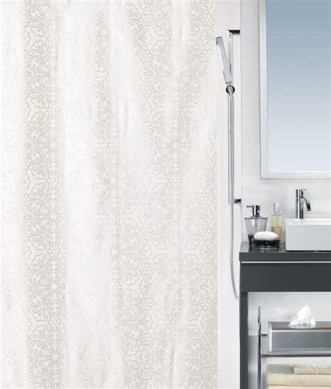 spirella shower curtain spirella fabia satin textile shower curtain clevershower